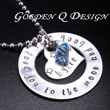 Personalised Stainless Steel Any Words Name Heart Necklace Birthday Gift D135