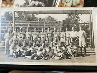 Vintage 1930's Honolulu Hawaii Military Baseball team Photo Signed on back!