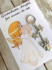 Guardian Angel for Mum to be pregnancy charm keyring - baby shower gift