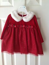 Girls Red Holiday Dress 6-9 Months