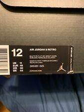 Rare NDS Air Jordan Retro 8 VIII Sz 12 Aqua