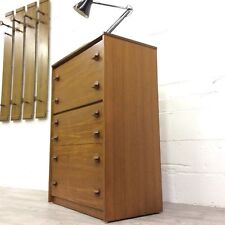 Vintage Retro Mid Century Stag Teak Chest of Drawers Tallboy