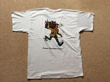 """White """"Crazy Pyrotechnician"""" T-Shirt size Large"""
