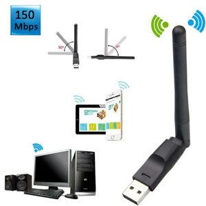 Adapter 150Mbps USB WLAN IEEE 802.11b/g/n MT7601 2.4GHz WiFi Stick Plug Tool