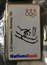 SKI 1994 Lillehammer OLYMPIC Games Pin Sponsor Nations Bank