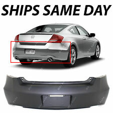 NEW Primered - Rear Bumper Cover for 2008 2009 2010 2011 2012 Honda Accord Coupe