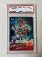 MIKE TROUT 2013 Topps Spring Fever REFRACTOR SP! PSA MINT 9! RARE INVEST! ANGELS