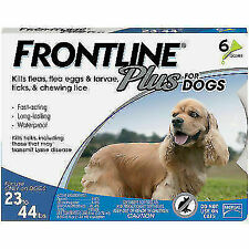 Frontline Plus Flea and Tick Treatment for 23 - 44 lbs (6 DOSES)