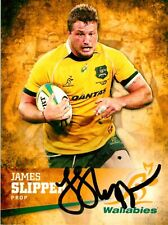 ✺Signed✺ 2016 WALLABIES Rugby Union Card JAMES SLIPPER