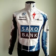 TEAM SAXO BANK 2009 PRO TOUR cycling shirt thermique L/S Taille Adulte S