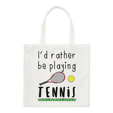 I'D más bien Be Playing Tenis Pequeño Bolsa - Divertido Shopper Hombro