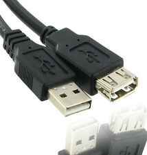 USB 2.0 EXTENSION CABLE A MALE PLUG TO A FEMALE EXTENDER LEAD BLACK MP3 PLAYER +