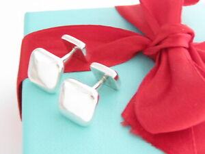 Tiffany & Co Sterling Silver Square Cushion Aviator Cufflinks Cuff Links Link