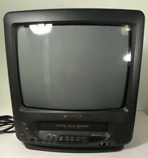 "Sansui TV VCR VHS Player/Recorder Combo CRT 13"" COM3100A Retro Gaming Tested"