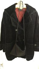 Philippe Adec Womens Black Winter Dress Coat with matching hand warmer