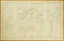 AUTHENTIC CIVIL WAR MAP ~ MINE RUN CAMPAIGN ~ ATLANTA GA. CAMPAIGN-1863-64