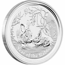 2011 Australian Lunar SRS II, YEAR OF THE Rabbit, 1oz Silver Brilliant Unc Coin