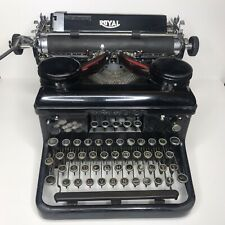 Antique 1930s Royal Model H Series Desktop Vintage Typewriter Works Nice Cond