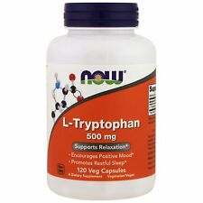 Now Foods L-Tryptophan 500 mg 120 vcaps - Positve Mood Relaxation, Sleep Support