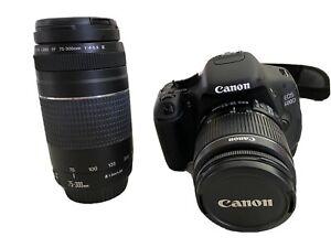 Canon EOS 600D / Digitalkamera mit zus. Objektiv 75-300 mm