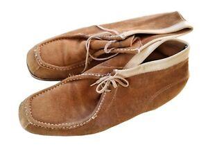 VTG UNBRANDED Men's Light Brown Steel Toe Chukka Boots Size 11 D Medium USA