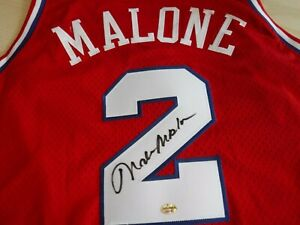 MOSES MALONE Signed 76ers(Sixers)Reebok Jersey-JSA & HOF Sports Authenticated