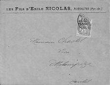 66 RIVESALTES ENVELOPPE LES FILS D' EMILE NICOLAS 1902