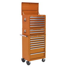 Topchest, Mid-Box & Rollcab Combination 14 Drawer with Ball Bearing Slides