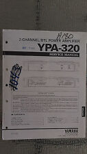 Yamaha ypa-320 service manual original repair book stereo power amp amplifier