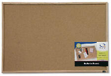 ACCO BRANDS INC Cork Bulletin Board with Oak Frame, 23 x 35-In. 35-380352