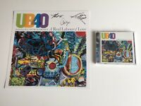 PERSONALLY SIGNED/AUTOGRAPHED UB40 - A REAL LABOUR OF LOVE CD/ALBUM PRINT