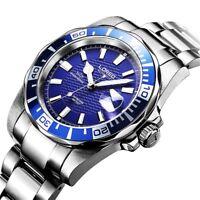 Automatic Mechanical Submariner Men Watch Swiss Luxury Steel 200M Diver Sapphire