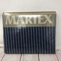 New Vintage Martex Wall Street Blue Full Flat Sheet 54X75