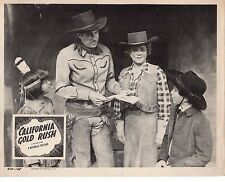 "Wild Bill Elliott Robert Blake California Gold Rush 11x14"" Lobby Card LC450"