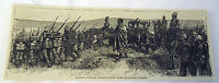 1882 magazine engraving ~ Cetshwayo At Wolseley's Camp After Battle Of Ulundi