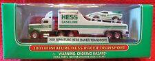 2001 HESS MINI RACER W/TRANSPORTER UNOPENED FRESH FROM CASE