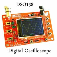 """DSO138 2.4"""" TFT Digital Oscilloscope Kit DIY parts ( 1Msps ) with probe STM32"""