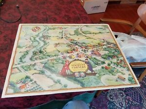 """Vintage Simmons Corners Tucker County Radios Little Orphan Annie Map 24""""X19"""" P61"""