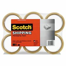 6 ROLLS Scotch 3M PACKING TAPE Sealing Shipping Clear Packaging Transparent Lot