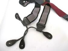 Trafalgar Suspenders Button Braces Black Gray and Red Wine with leather tabs