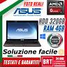 """PC NOTEBOOK PORTATILE ASUS K53U 15,6"""" CPU AMD E450 RAM 4GB HDD 320GB +WIN 10 PRO"""
