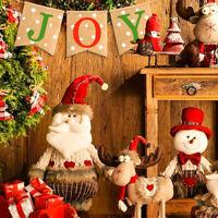 JOY Burlap Banner Jute Hessian Garland Hanging Sign Christmas Ornament 2m