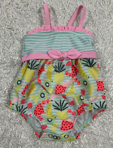 Baby Girl's Swimsuit Fixed Bow Size 3-6M Swimwear Target Fruit Theme