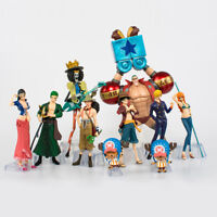 Lots10x/SET One Piece Monkey·D·Luffy The straw hat Pirates Anime Action Figure