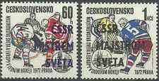 Timbres Sports d'hiver Tchécoslovaquie 1917/8 ** lot 1040 - cote : 24,00 euros