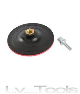 PLATORELLO PER CARTA VETRATA 125mm A STRAPPO TRAPANO SMERIGLIATRICE G00323