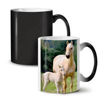 Horse Family Photo NEW Colour Changing Tea Coffee Mug 11 oz | Wellcoda