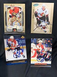 Zdeno Chara Ottawa senators Parkhurst signed card Bruins