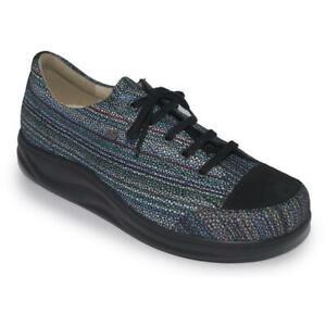 Finn Comfort Women's Ikebukuro Orthopedic Sneaker - Multi/Black Raya NWB