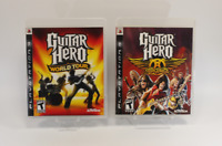 Guitar Hero: World Tour & Guitar Hero: Aerosmith PS 3   (2 Lot Set)